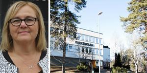Anna Landehag, områdeschef för grundskolan i Hallstahammar, där Parkskolan är en av två högstadieskolor. Foto: Åza Forsman och Magnus Östin