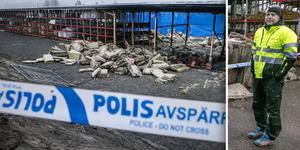 Under torsdagen kommer polisens tekniker att genomföra en undersökning av brottsplatsen. När den är klar planerar Beijer bygg för att öppna området igen.