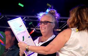 Annika Nygren är Årets företagare i Ånge 2019, en utnämning som förkunnades i samband med fredagens prisceremoni på torget i Ånge.