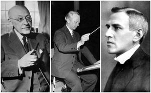 Hugo Alfvén, Kurt Atterberg och Wilhelm Stenhammar är några av de svenska tonsättarna som var med vid bildandet av Föreningen svenska tonsättare (FST) 1918. Foto TT
