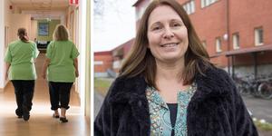 Christina Magnusson byter Gävle mot Ockelbo. Hon är läraren som ska starta upp Ockelbos allra första yrkesutbildning – den nya vårdutbildningen. Bilden är ett montage. Foto: Fredrik Sandberg/TT.