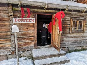 Som vanligt gick det också att besöka tomten. Foto: Åsa Eriksson.