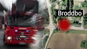 Mannen upptäckte den branden vid Broddbo bygdegård.Foto: Pontus Lundahl/TT/ Google maps