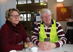 Bertil Sundqvist, här tillsammans med hustrun Agnetha, har fört statistik och dokumenterat BB-ockupationen i Sollefteå.