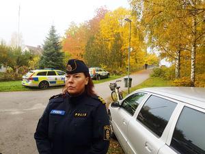Christina Hallin, polisens pressinformatör.
