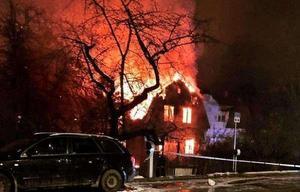 Huset på Övre villagatan brann natten mot den 25 januari och utreds som mordbrand.