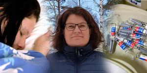 Helena Halvarsson, personalchef i Gagnef, menar att brist på och mindre verksamht influensavaccin bidragit till att sjukfrånvaron i Gagnef ökat. FOTOMONTAGE