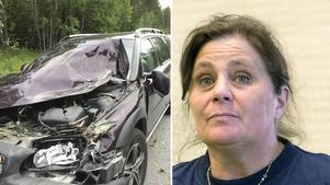 Ingela Dalin och sambon Tom Olofsson klarade krocken med ett nödrop. Nu polisanmäler de händelsen.