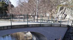 Incidenten inträffade nära Oscarsbron i Nynäshamn.