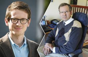 KD-politikerna Lennart Sacrédeus  och Torsten Larsson kritiserar ledarsidan för att ändra sin åsikt om regeringsbildningen före kontra efter valet.
