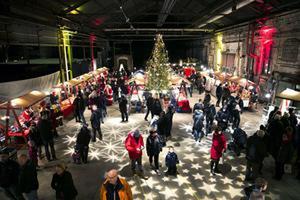 Julmarknad på Verket, Avesta. Foto: Mikael Hellsten.