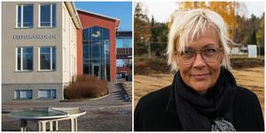 Lillhagaskolan är inte byggd för att vara enbart högstadium, konstaterar Susanne Englund. Nu vill hon att skolan byggs om invändigt.