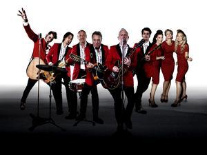 The Greatest Rock'n'Roll Christmas Show med The Boppers, Brolle och Rockabilly Fabulous planerar ett turnéstopp i Skövde i jul. Foto: Pressbild
