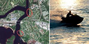 Platserna i Mora där stölderna skett. Foto: Google Earth/Maja Suslin.