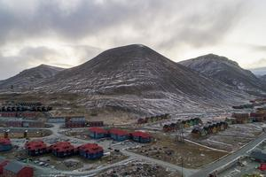 Longyearbyen på Svalbard. Foto: TT