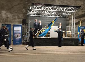 Marinstabens invigningsceremoni på Muskö var högtidlig.