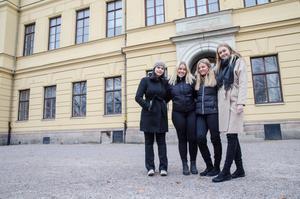 Neda Zandieh, Emma Hermansson, WIlma Danielsson och Stina Kotilainen kommer att kämpa för allas lika värde även när resan med UF-företaget är över.