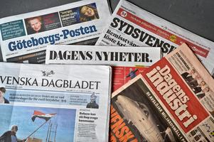 Sju av riksdagspartierna är nu eniga om ett breddat presstöd. Foto: Anders Wiklund/TT