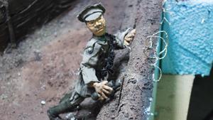 En av de brittiska soldater som används i filmen.