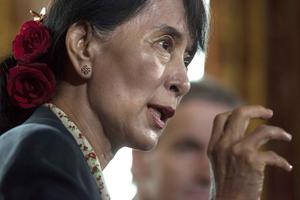 Burma. Aung San Suu Kyi fick äntligen hålla sitt Nobeltal under helgen, 21 år efter att hon tilldelats fredspriset.foto: scanpix
