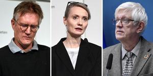 Anders Tegnell, Karin Tegmark Wisell och Johan Carlson.