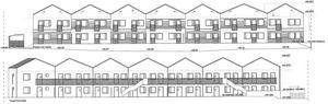 Så här ska flerbostadshusen Paradoumo vill bygga i Ekgården se ut enligt bygglovsansökan.Skiss: Södertälje kommun
