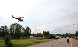 Vid Räddningstjänsten i Särna landar också helikoptrar.