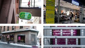 Systembolaget, Scorette och Smarteyes butiker i city är några av de som fått stänga eller flytta.