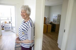 """""""Det här känns bra"""", säger Gudrun Axelsson som flyttat från Käringberget till Snedkanten."""