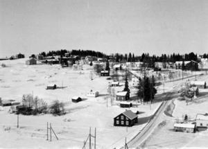 Utsikt över Föllingebygden från kyrkan. Okänt årtal.