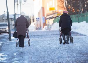 Kvinnor som har pensionsåldern inne. Foto: Fredrik Sandberg/TT