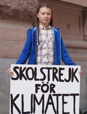 Är Greta Thunberg verkligen representativ för dagens ungdom? Mycket tyder på att det inte är fallet. Foto: Anders Hellberg