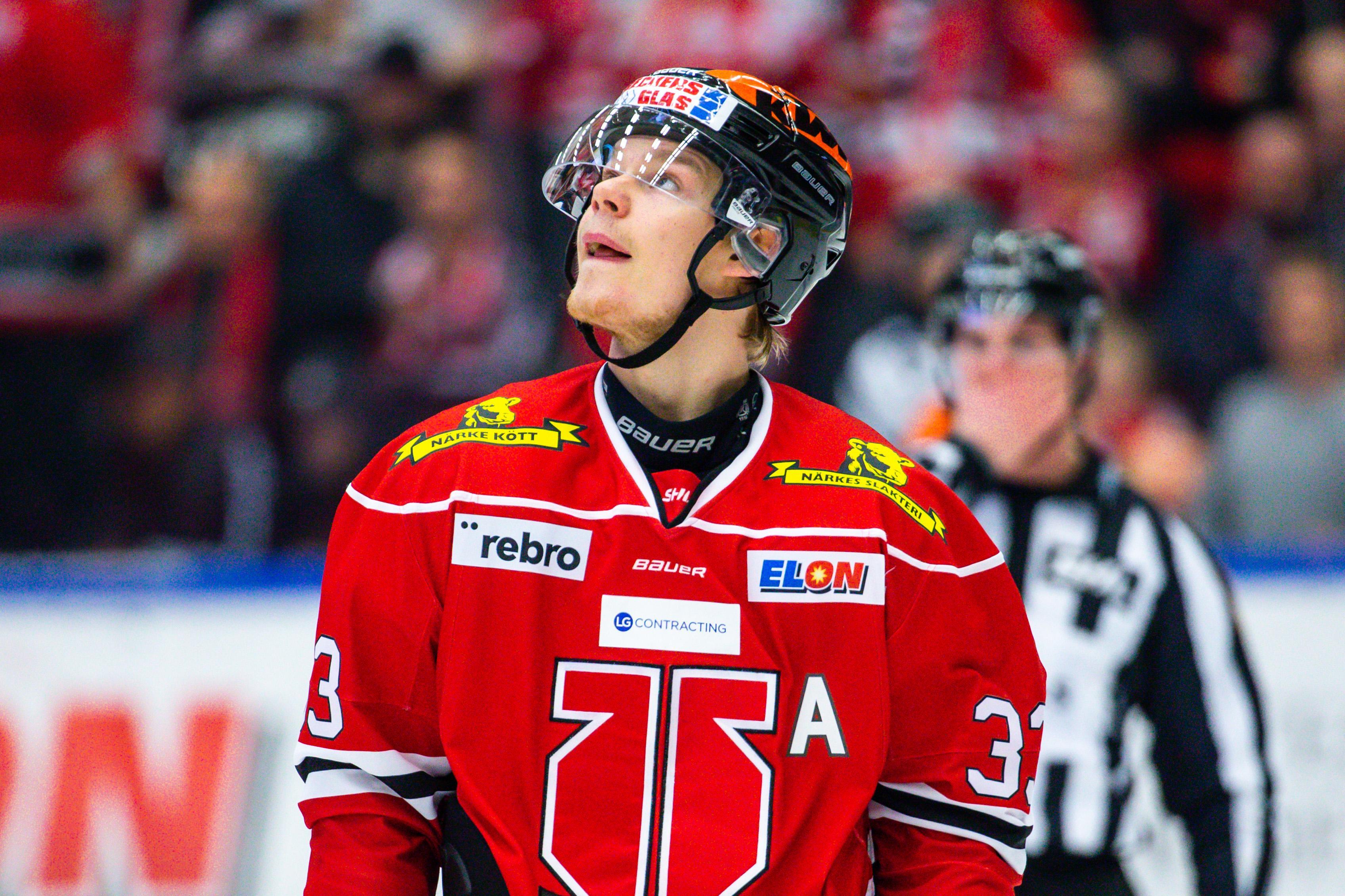 Christopher Mastomäki får chansen i Tre Kronor. Bild: Johan Bernström/Bildbyrån