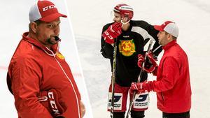Daniel Grillfors, back, är tillbaka i full träning. Men han följer inte med upp till Skellefteå, enligt tränaren Mattias Karlin.