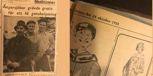 Ängersjö får gatubelysning 1958
