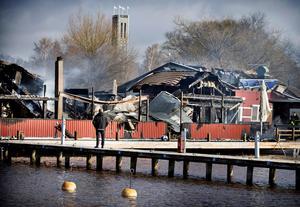Sjökrogen totalförstördes i branden i april för två år sedan.
