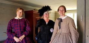Så här fint kunde damerna se ut på 1800-talet.