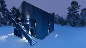 Det är Emil Aludden på Johan Skoogs arkitektkontor som har ritat husen och området. Foto: Johan Skoog arkitektkontor.