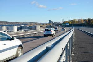 Här vid det södra delen av Sundsvallsbron träffade Helene Johansson sin blivande (?) man under en joggingtur.