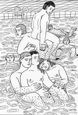 Teckning av Edith Hammar.