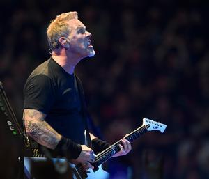James Hetfield, sångare och gitarrist i Metallica. Foto Pontus Lundahl/TT