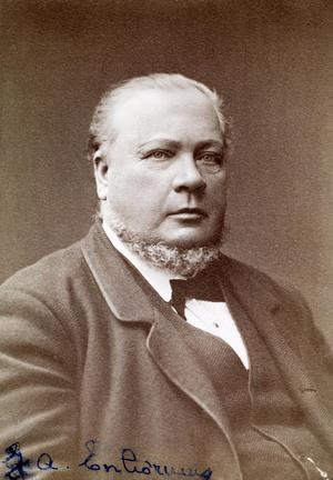 Johan August Enhörning (1825-85), disponent på Kubikenborgs sågverk på bild från 1880. Foto: SCA(publ)/www.bildhotellet.se. Bildnummer: C1071_01