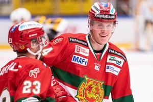 Adam Edström var en av fem juniorer som testades i Moras sista grundseriematch. Foto: Daniel Eriksson / BILDBYRÅN