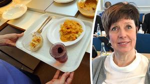 Ingeborg Wiksten (L) menar att vårdbiträden skulle kunna utföra enklare uppgifter, som att servera lunch och göra rent handfat. Bild: TT Arkiv och Klas Leffler