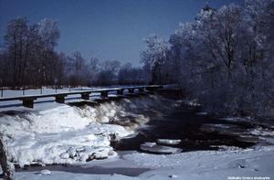 Vattenfallet i Karlslund, 1960-tal. Foto: Okänd