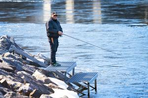Jarl Mannström fiskade längst upp i zon 1 under premiären.