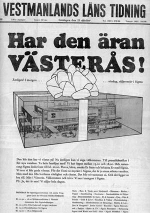 VLT:s förstasida 15 oktober 1966.