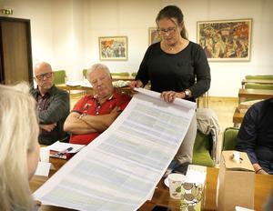 Frågan var vad lokalpolitikerna vill i framtiden men Christina Johansson (M) tycker det är viktigt att även titta på vad som åstadkommits under mandatperioden som snart är slut. En lång lista visades upp. Intill närmast Kenth Grängstedt (S) och Lars-Göran Zetterlund (C)