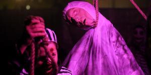 Förra året besökte flera hundra personer spökhuset.