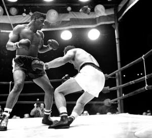 Ingo knockades av Floyd 1960 och även i sista mötet dem emellan 1961. Foto: AP